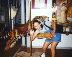 Ruth with tiger!